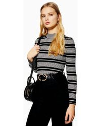 TOPSHOP - Stripe Knitted Jumper - Lyst
