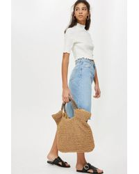TOPSHOP - Brighty Straw Tote Bag - Lyst