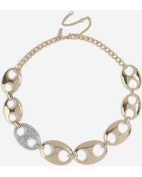 TOPSHOP - linked Collar Necklace - Lyst