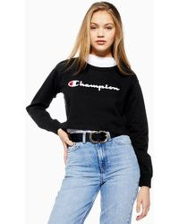 Champion - Script Cropped Sweatshirt By - Lyst
