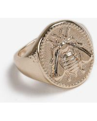 TOPSHOP - Bee Engraved Pinky Ring - Lyst