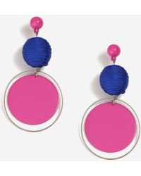 TOPSHOP - Woven Ball And Circle Drop Earrings - Lyst