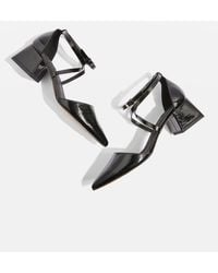 TOPSHOP - Jolly Pointed Mid Heel Flare Shoes - Lyst