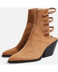 b075e07bf Lyst - TOPSHOP Briony Mesh Boots in Gray