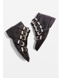TOPSHOP - Multi Buckle Ankle Boots - Lyst