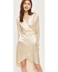 TOPSHOP - Kimono Wrap Dress - Lyst