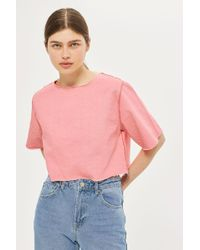 WÅVEN - Cropped Denim Top In Rose By - Lyst