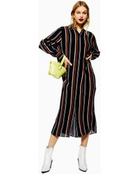 27e7b3f394196 TOPSHOP - Stripe Long Line Shirt Dress - Lyst