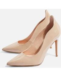 TOPSHOP - Wide Fit Court Shoes - Lyst