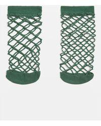 TOPSHOP - Oversized Fishnet Ankle Socks - Lyst