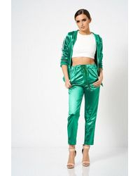 Club L - satin Tracksuit Bottoms By - Lyst