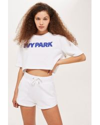 Ivy Park - Chenille Logo Crop T-shirt By - Lyst
