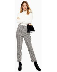 TOPSHOP - Houndstooth Trousers - Lyst