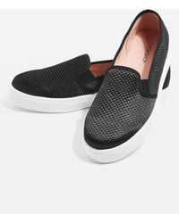 TOPSHOP | Tempo Slip On Trainers | Lyst