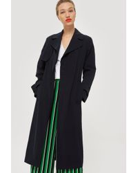 TOPSHOP - Silky Crepe Duster Coat - Lyst