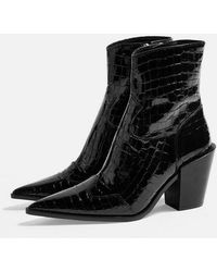 TOPSHOP - Howdie Western Boots - Lyst