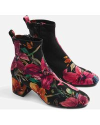 TOPSHOP - Buttercup Sock Boots - Lyst