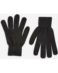 TOPSHOP - Knitted Touchscreen Gloves - Lyst