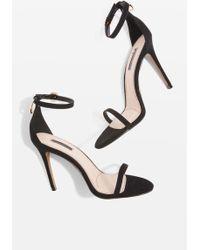 TOPSHOP - Romeo Ring Back Skinny Strap Sandals - Lyst