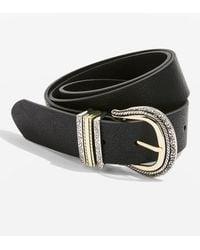 TOPSHOP - Western Buckle Jeans Belt - Lyst