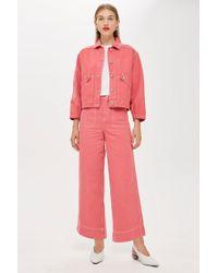 TOPSHOP - Denim Culotte Jeans By Boutique - Lyst