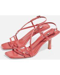 TOPSHOP - Strippyheeled Sandals - Lyst
