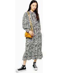 TOPSHOP Tall Bell Sleeve Chuck On Dress - Multicolor