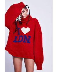 Jaded London - 'i Love Ldn' Oversized Jumper By - Lyst