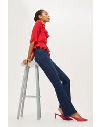 TOPSHOP - Tall Indigo Flared Jamie Jeans - Lyst