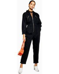 TOPSHOP - Utility Zip Boiler Suit - Lyst