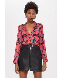 TOPSHOP - Tall Floral Shirt - Lyst