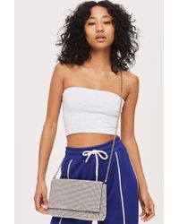 TOPSHOP - Diana Diamante Clutch Bag - Lyst