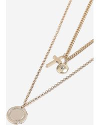 TOPSHOP - Charm And Cross Multirow Necklace - Lyst