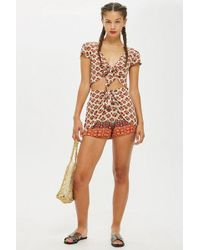 Band Of Gypsies - Printed Tie Shorts By - Lyst