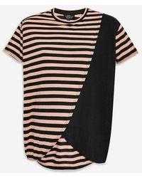 TOPSHOP - maternity Striped Nursing T-shirt - Lyst
