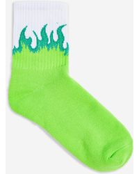 TOPSHOP - Flame Tube Socks - Lyst