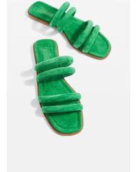 TOPSHOP - Fever Strappy Slider Sandals - Lyst
