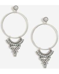 TOPSHOP - Triangle Hoop Earrings - Lyst