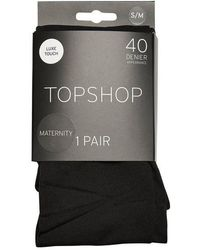 TOPSHOP - maternity 40 Denier Bump Tights - Lyst