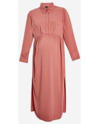 TOPSHOP - maternity Midi Shirt Dress - Lyst
