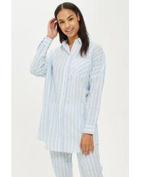 TOPSHOP - Wide Striped Sleep Shirt - Lyst