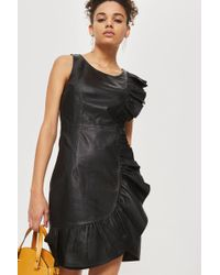 Y.A.S | Leather Wrap Dress By | Lyst
