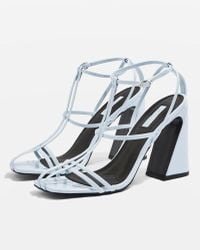 8508454cc66 Topshop Realm Unicorn Sandals in Metallic - Lyst