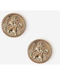 TOPSHOP - Coin Stud Earrings - Lyst