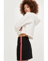 TOPSHOP - Petite Side Striped A-line Skirt - Lyst