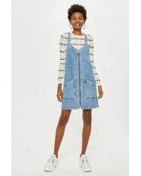 TOPSHOP - Tall Double Zip Pinafore - Lyst