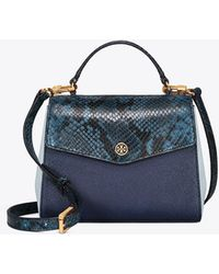 Tory Burch - Robinson Mixed-materials Top-handle Satchel - Lyst