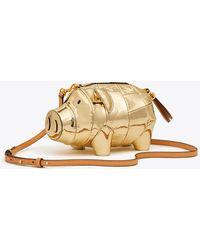Tory Burch - PEGGY The Pig Metallic Mini Bag - Lyst