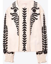 Tory Burch | Embroidered Jacket | Lyst