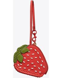 Tory Burch - Strawberry Coin Pouch Key Ring - Lyst